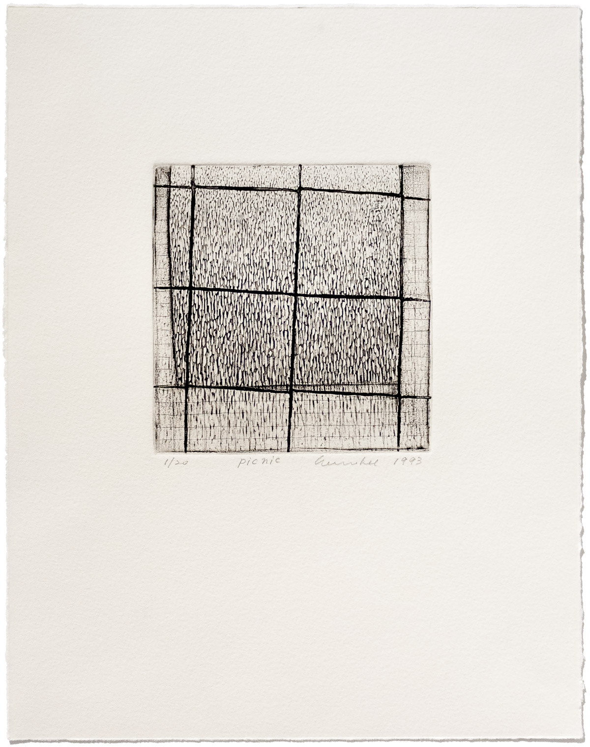 Soo Im Lee, Picnic, 1993, limited-edition etching on paper