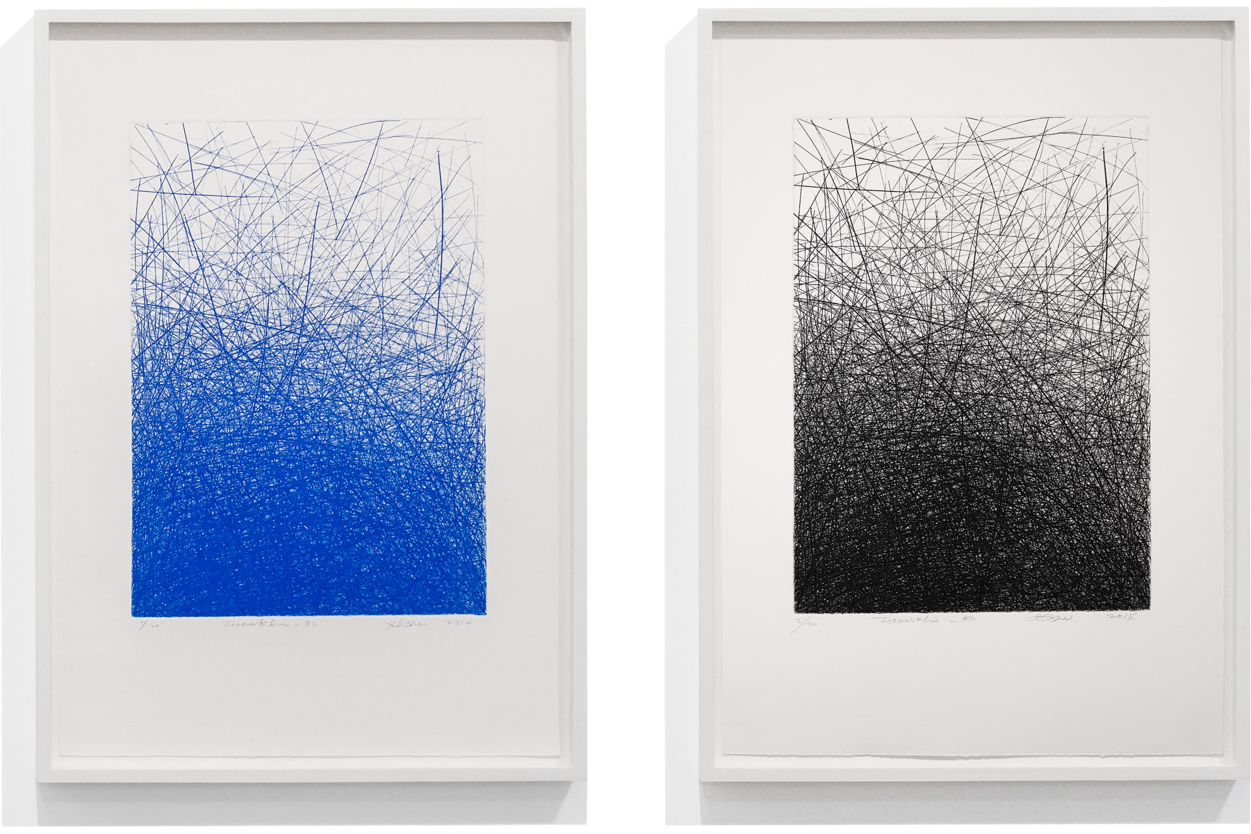 IL LEE,Franklin-BLandFranklin-BK, 2014, etching on paper