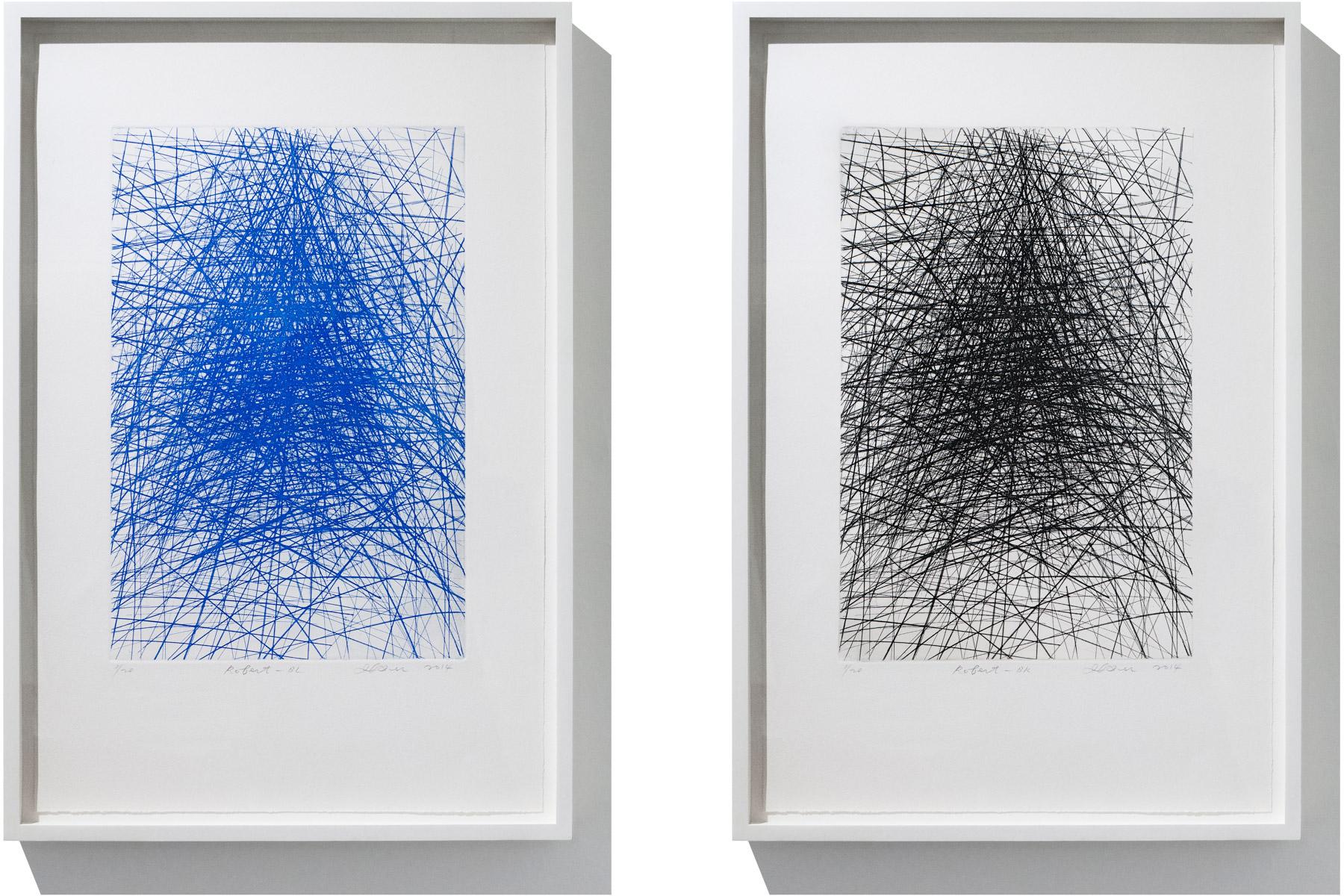 IL LEE,Robert-BLandRobert-BK, 2014, etching on paper