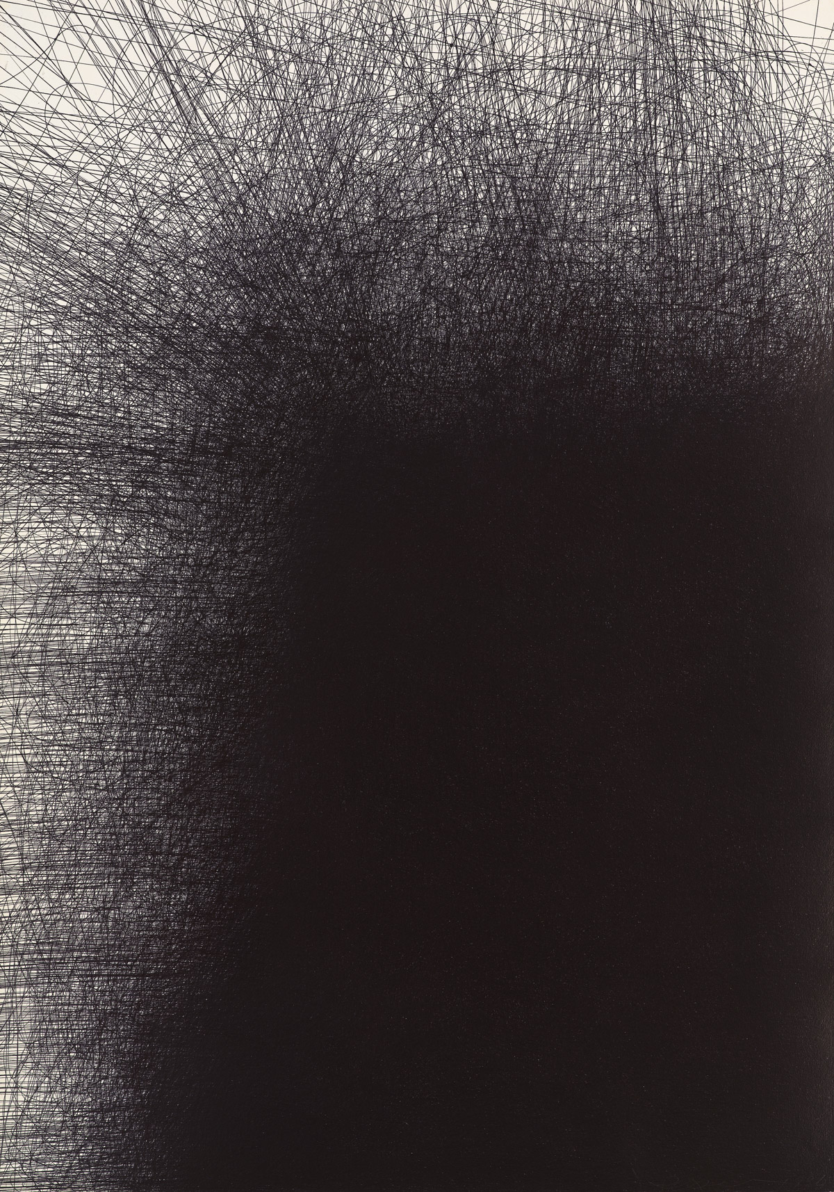 IL LEE, Untitled 9627, 1996, ballpoint ink on paper,42 x 29 3/4 inches (106.7 x 75.6 cm)