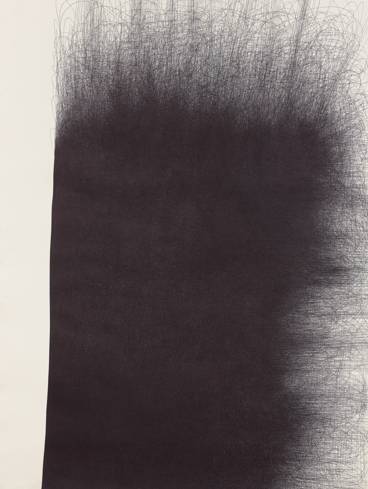 IL LEE, Untitled 978 F, 1997-98, ballpoint ink on paper,80 x 60 inches (203.2 x 152.4 cm)