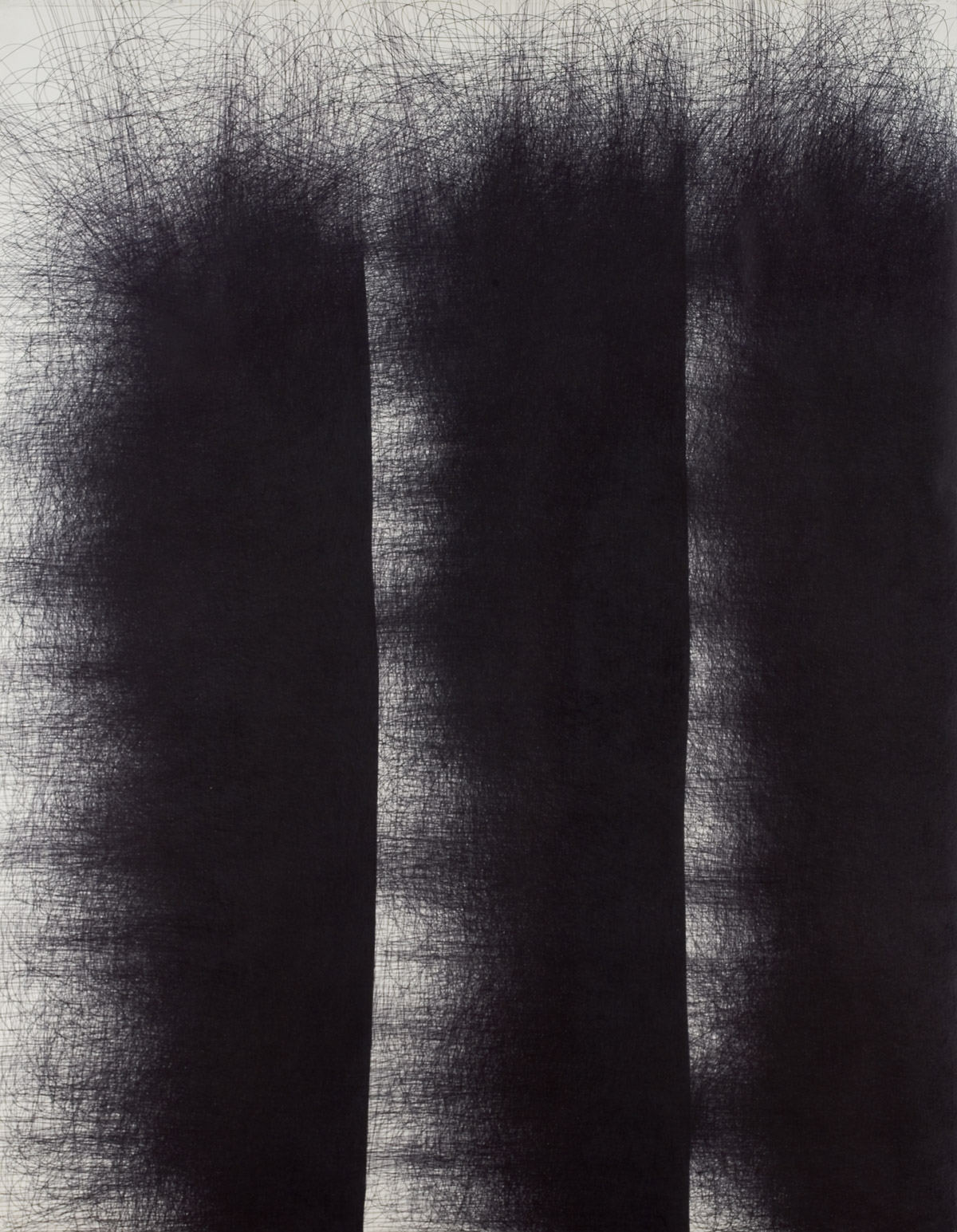 IL LEE, Untitled 978 I, 1997-98, ballpoint ink on paper,82 x 61 inches (208.3 x 154.9 cm)