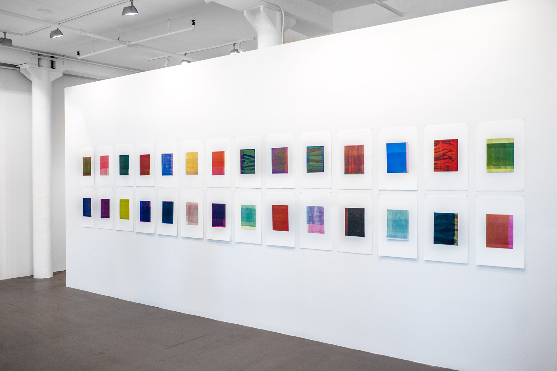 installation view of works by Richard Tsao