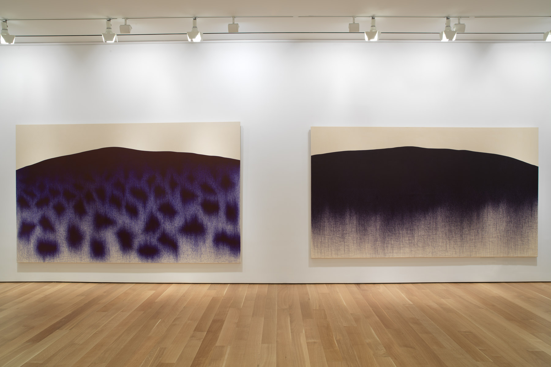 installation view of two works by Il Lee