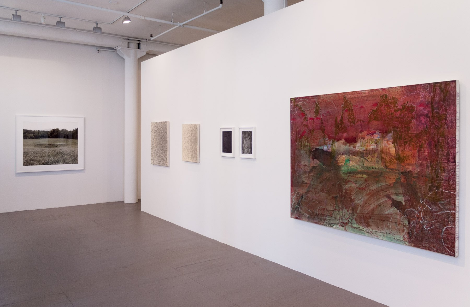 Installation view of New Works at Art Projects International, New York, 2019.